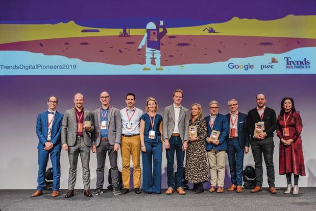 """Allthingsblue, AVR et Belfius remportent la 3e édition des Trends Digital Pioneers: """"Ne gardez pas vos idées pour vous"""""""