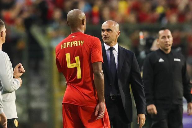 Roberto Martínez: 'Als Kompany niet speelt bij Anderlecht kan ik hem niet oproepen'