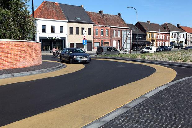 Gemeente Ingelmunster werkt aan oplossing voor kunstmatige chicanebocht in Brigandsbrug