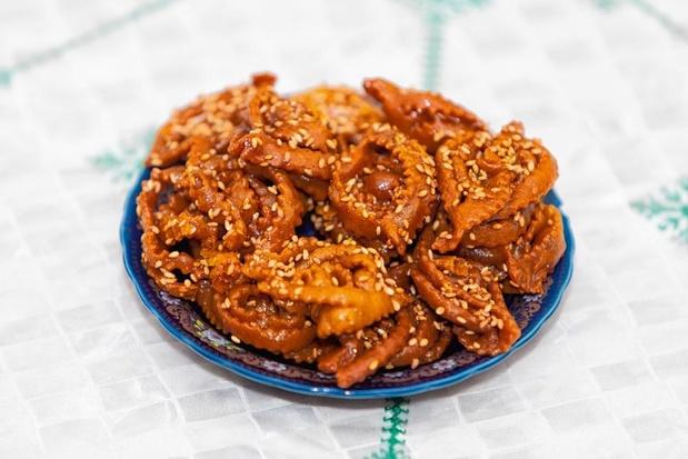Gezonde shebakia's (honingkoekjes)
