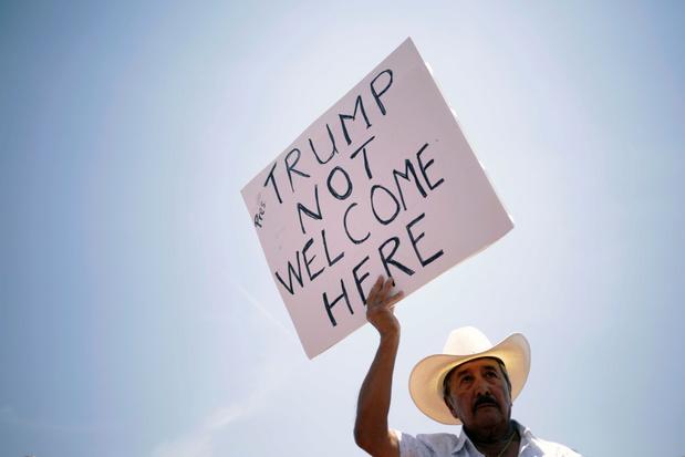 Trump aangekomen in El Paso