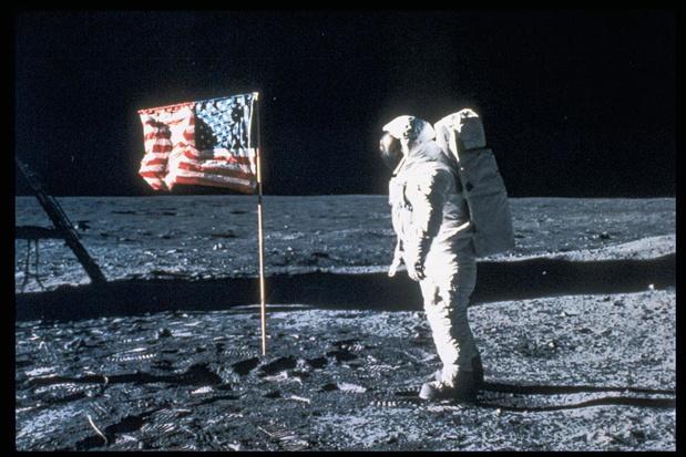 Mens op de maan