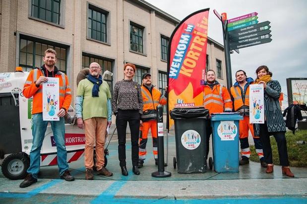 100 extra vuilnisbakken, 50 peukenpalen en grote kuisploeg houden Kortrijk proper