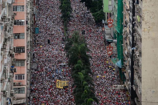 Meer dan miljoen mensen op straat in Hongkong tegen nieuwe uitleveringswet