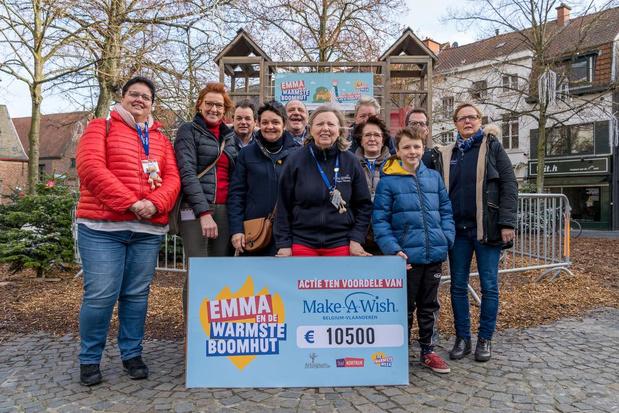 Warmste Sjaal Emma en de Warmste Boomhut halen 11.200 euro op voor Make a Wish