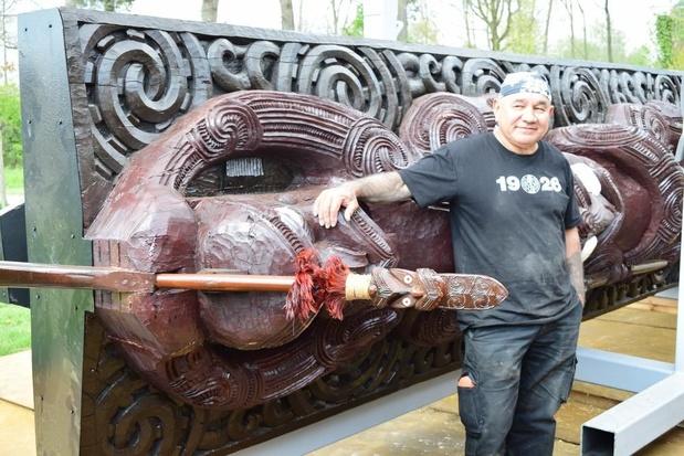 Maori-sculptuur te kijk en te keur in Zonnebeke