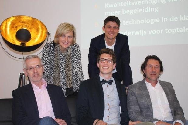 Hilde Crevits stelt plan 'Toponderwijs in Vlaanderen' voor in Waregem