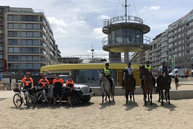 Unieke samenwerking tussen politie Knokke en Nederlandse politie te paard