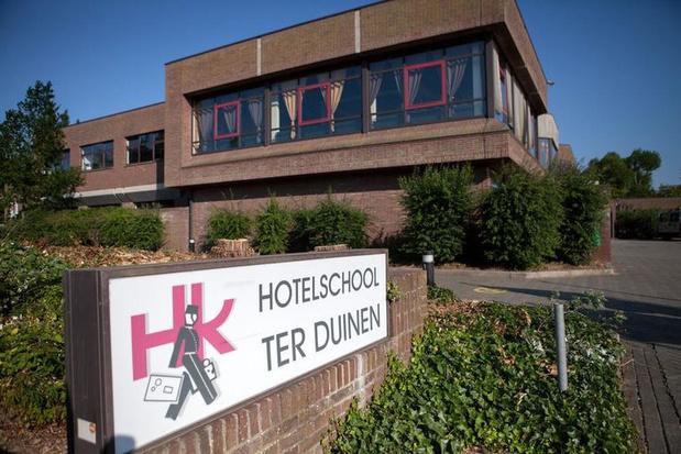 Vandalen aan het werk bij Hotelschool Ter Duinen in Koksijde