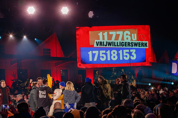 De Warmste Week breekt records: 17.518.153 euro en 11.776 uur vrijwilligerswerk