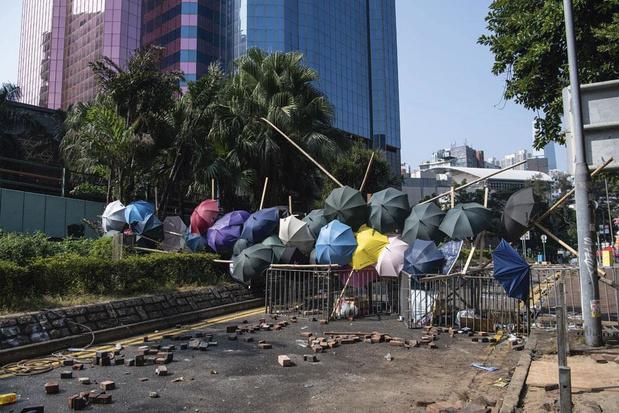 Protest in Hong-kong verhardt