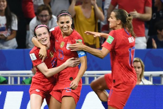 WK Vrouwen: VS mogen naar finale na winst tegen Engeland