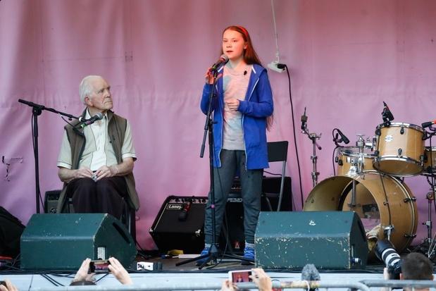 Greta Thunberg in Londen: politici die niets doen gaan er niet mee wegkomen