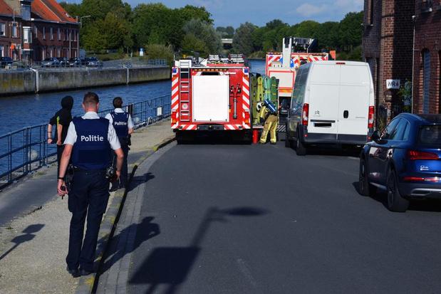 Brandweer rukt opnieuw uit voor gasgeur in Oostkaai in Menen