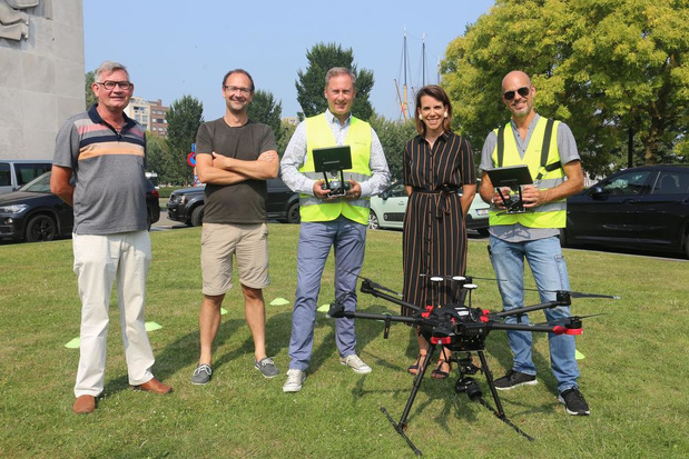 Drone brengt 1.700 meeuwennesten in kaart in Oostende