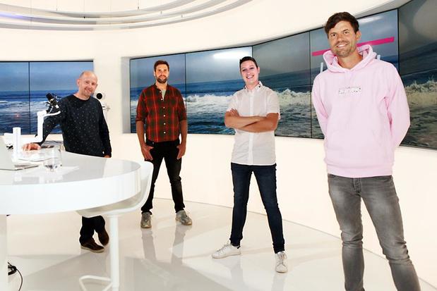 West-Vlamingen Mathieu en Jan-Pieter verwelkomen Nick & Simon bij Ment TV