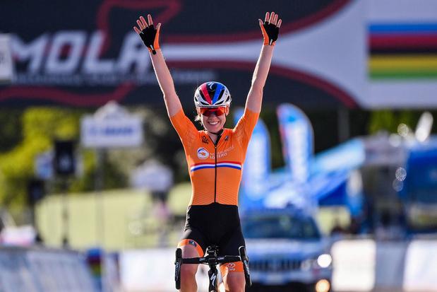 Anna van der Breggen pakt uit met dubbelslag op WK wielrennen