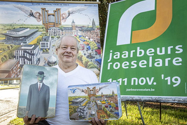 Roger Tanghe staat met koekjes en oldtimer op Jaarbeurs in Roeselare