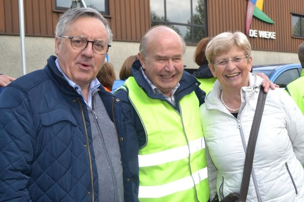 Jozef Callewaert voor de 50e keer te voet van Deerlijk naar Halle