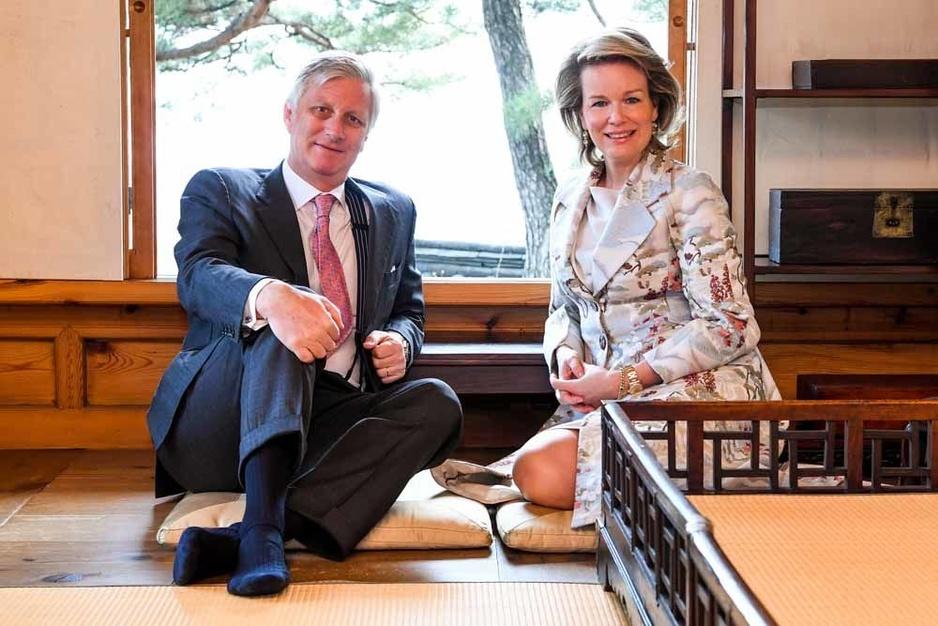 Le couple royal en Corée du Sud (en images)