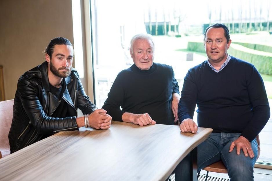 Drie generaties godenkinderen: Guillaume Van Keirsbulck, Kurt Van Keirsbulck en Benoni Beheyt