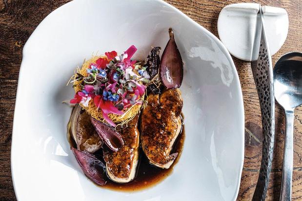 Foie gras met Cevenne-ui, Banyulswijn en mosterd