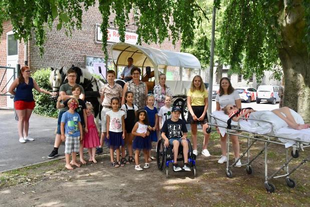 Feestje voor chronisch zieke kinderen in Rollegem