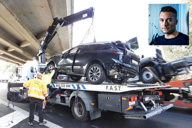 """Viktor Verhulst betrokken in spectaculair ongeval in Jabbeke: """"Wonder dat ik ongedeerd ben"""""""