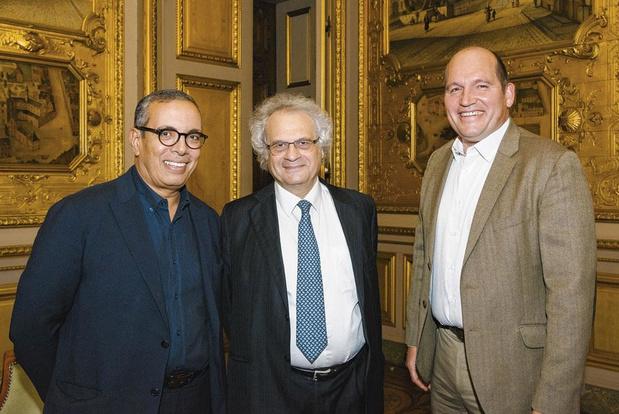 Amin Maalouf à l'Hôtel de Ville de Bruxelles