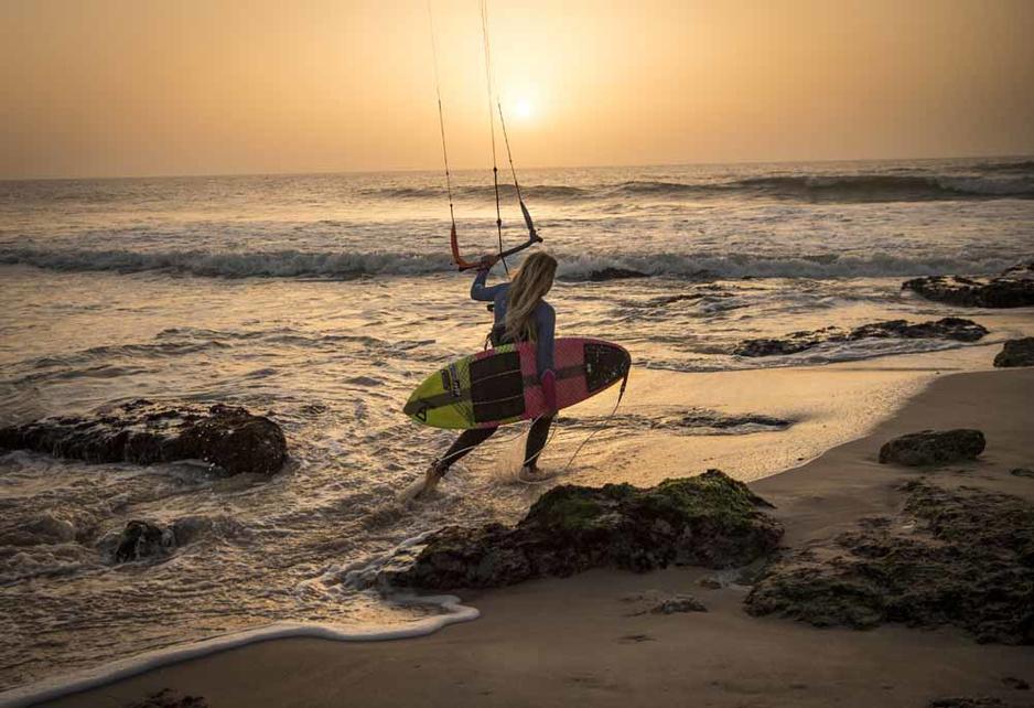 En images: Dakhla, le spot de kitesurf perdu dans le Sahara occidental