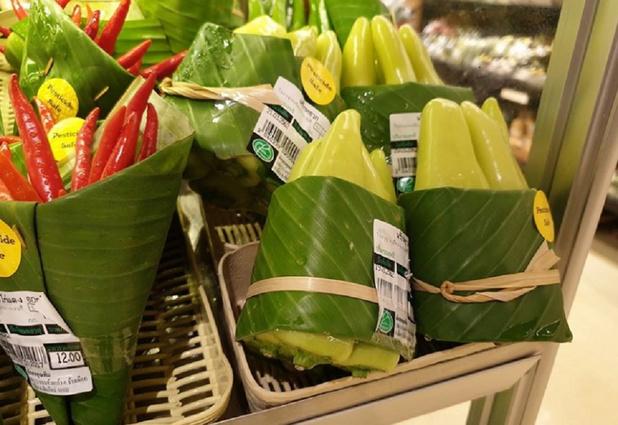 Des feuilles de bananier à la place des emballages plastiques: des supermarchés asiatiques créent le buzz