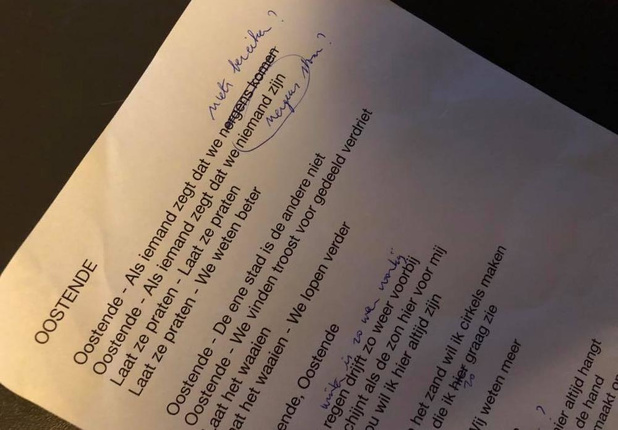 De Mens werkt aan liedje 'Oostende'