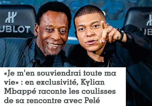 Mbappé ontmoet Pelé: 'Hij bleef maar herhalen dat hij zichzelf herkende in mij'