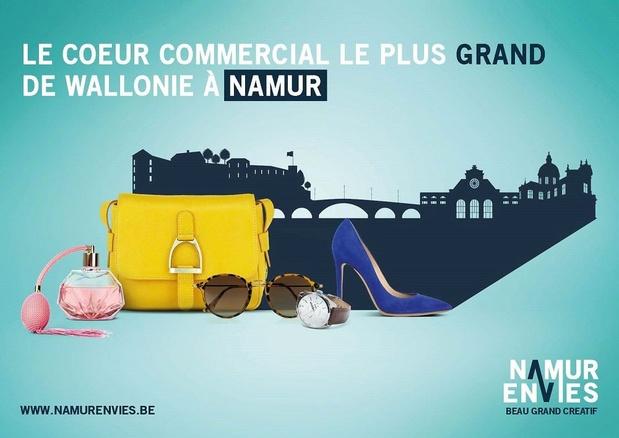 """Les commerçants namurois lancent """"Namur Envies"""" pour stimuler le coeur de ville"""