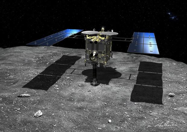 Japanse sonde stuurt kleine robot om asteroïde te verkennen