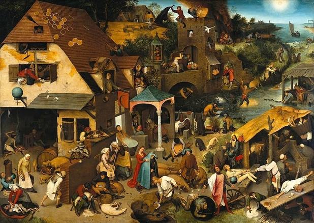 Welke vlaai beeldde Bruegel af?
