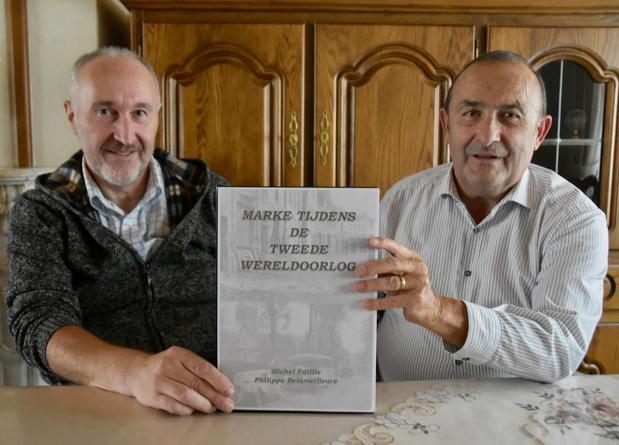Michel en Philippe bundelen hun kennis over WO II in Marke
