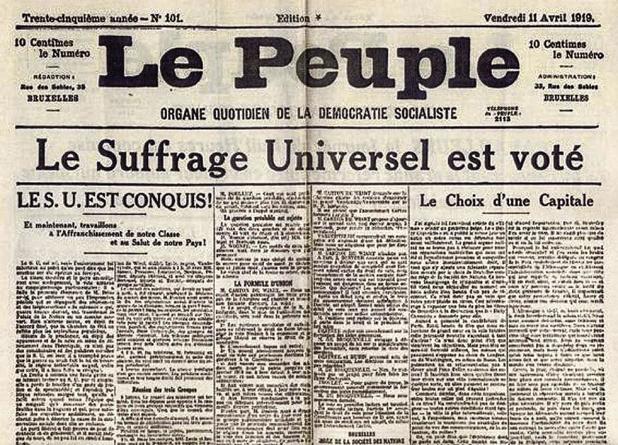 16 novembre 1919 : La mère de toutes les élections