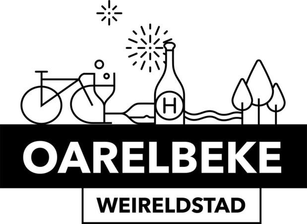 Logo Oarelbeke Weireldstad is bekend