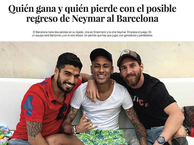 Keert Neymar terug naar Barça?