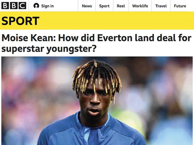 Hoe Juventustalent Moise Kean bij Everton belandde