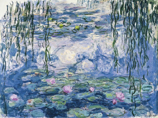 Claude Monet presenteert waterlelies en blauweregen