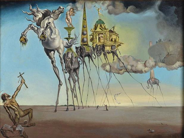 Twee reuzen van het surrealisme