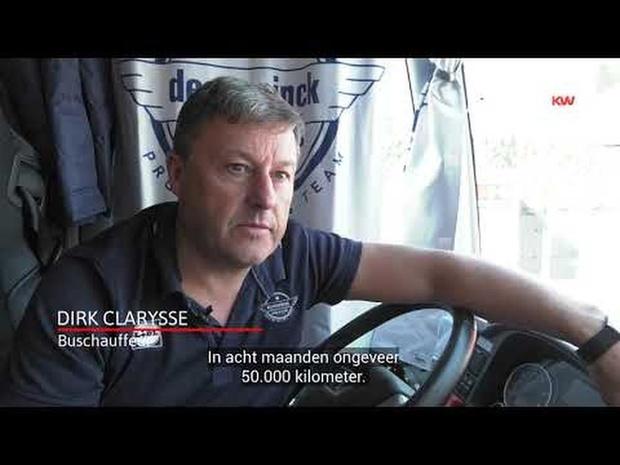 Dirk Clarysse, chauffeur van de teambus van Deceuninck - Quick-Step