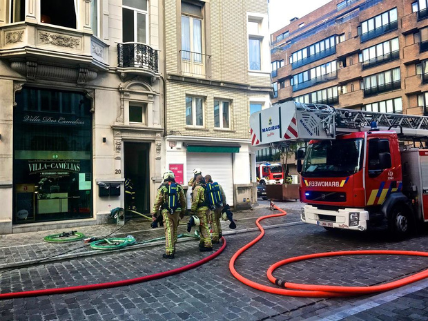 Brand in kelder van Oostends restaurant