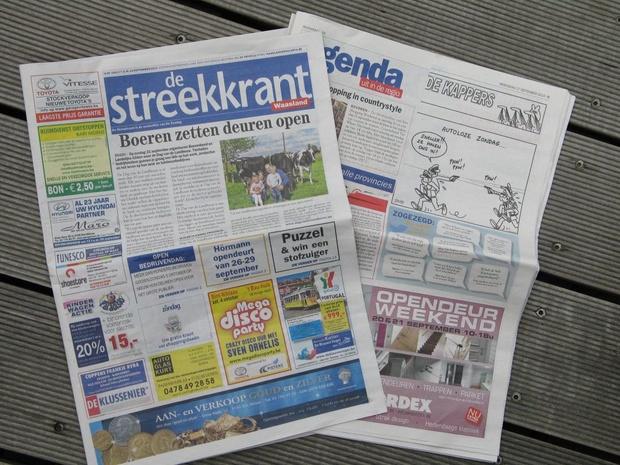 Roularta arrête le journal gratuit De Streekkrant