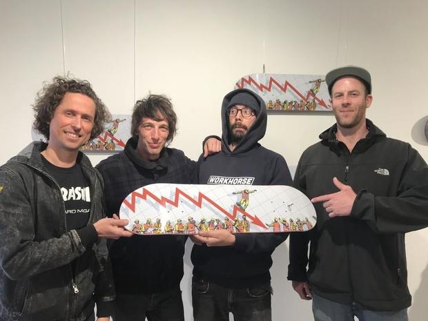 Skateacademie Push lanceert exclusief skateboard met street artist Jaune