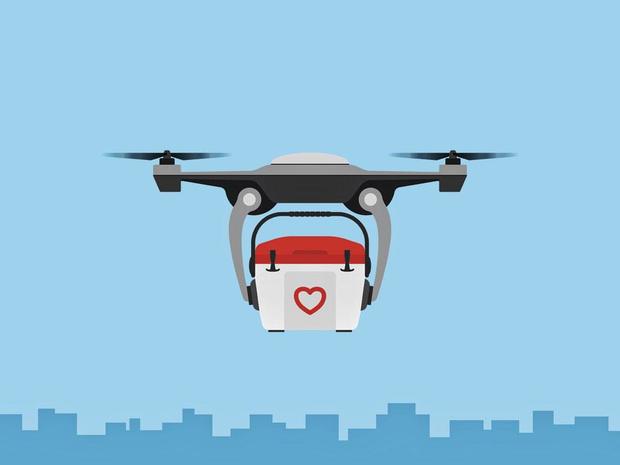 Premier vol de drone médical en Belgique