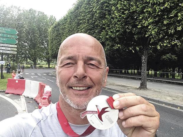 Marc Delire a bouclé le marathon de la Libération en Normandie