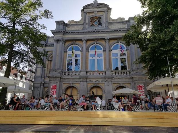 URB EGG-café verrijst op plein voor Brugse Stadsschouwburg